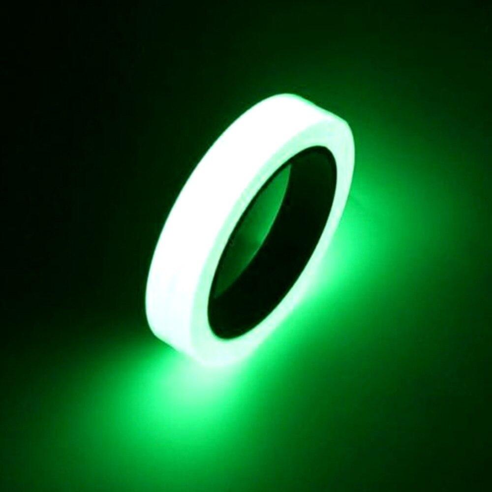 10 M 10/12/15/20/25mm ruban lumineux auto-adhésif ruban d'avertissement Vision nocturne lueur dans l'obscurité sécurité sécurité décoration de la maison rubans