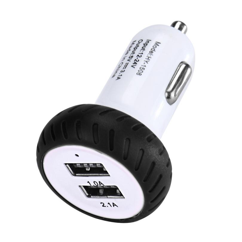 Cigarette Lighter USB Charging Auto In Car Charger Adapter Adaptor Charging Mini Dual 2 Port 12V USB Cigarette Lighter @019 bullet charger dual usb adaptor 2 port