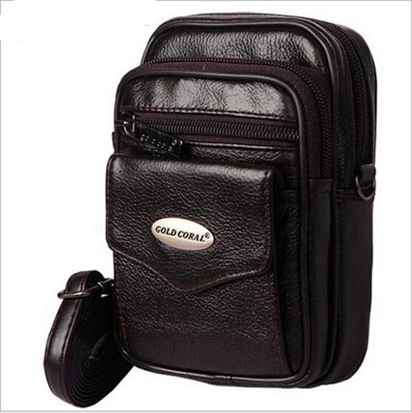 2016 novo estilo de couro genuíno dos homens sacos de viagem multifunções engraçado homens pacote peito pacote de cintura qualidade hiqh homens cintura saco
