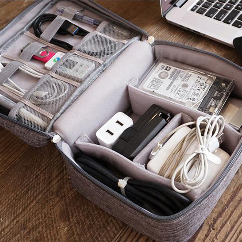 Electronic Accessories Cable USB Drive Organizer Bag Portable Travel Insert Case Durable Travel Storage Bags