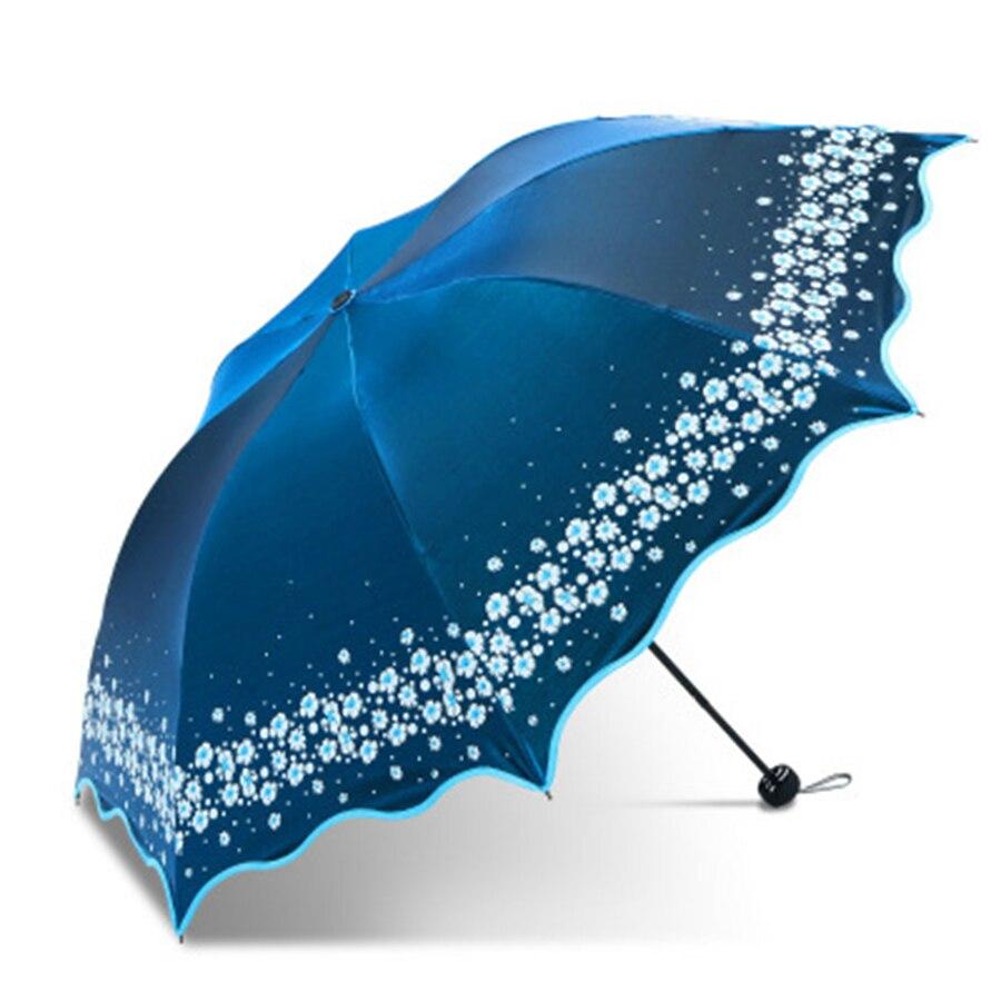 Parapluies de pluie colorés femmes fleurs pliant Uv Unbrella Corporation cadeau hommes clair princesse femme Parasol cadeau créatif XX506