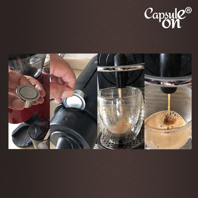 Купить с кэшбэком Capsulone Refillable Reusable Stainless Steel Coffee Capsulas Compatible with Nespresso Machines Maker 3 Pod +120 Seals
