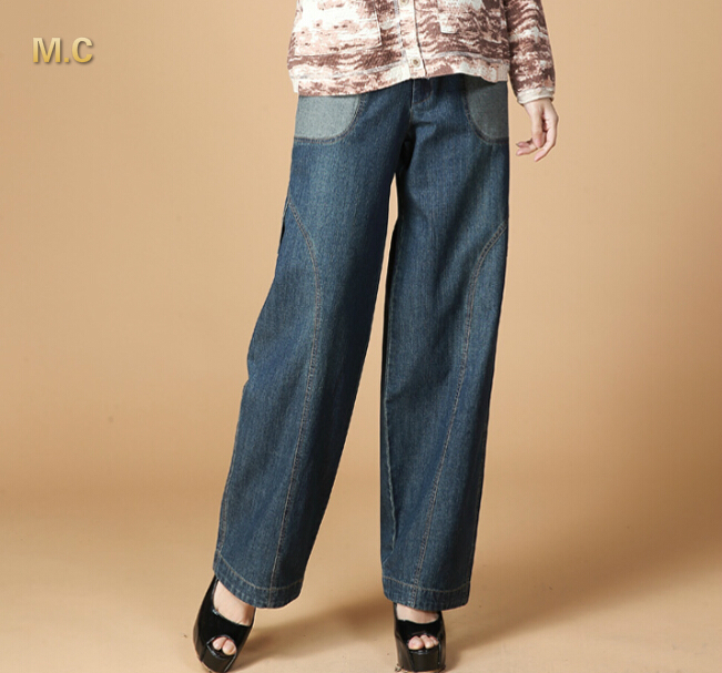Jeans for women denim casual pants plus size bloomers pants high waist harem pants spring autumn natioanl trend loose lyq0602 2015new plus size women jeans trousers casual denim pencil pants spring big elastic high waist empire legging free shipp0828xxxx