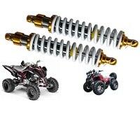 Мотоциклы Новый Пара 400 мм 15,75 Мотоцикл ATV Скутер амортизаторы задней подвески белый + золото