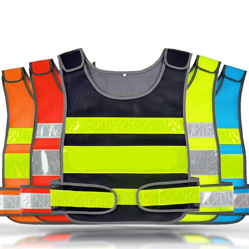 High visibility mesh reflective safety vest logo printing free shipping