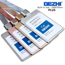 High Quality Metal Badge Holder Plus Style ID IC Card Case with Lanyard LOGO Customize Holder