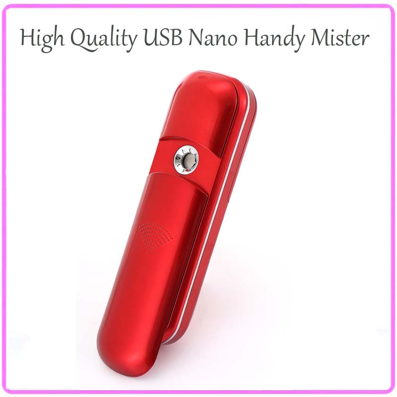 6PCS/Lot Free Shipping Mini USB Charging Emily Ionic Nano Handy Mist Sprayer Sliding Facial Steamer Eye Beauty Care Instruments фен elchim 3900 healthy ionic red 03073 07