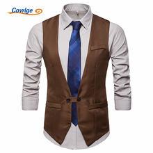 Covrlge весенний модный мужской костюм жилет официальное платье