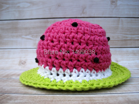 Shop1499038 Store Cotton Baby  Summer  watermelon cap hat  best for newborn  Photography Prop