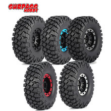 SURPASS HOBBY 4pcs 6020 110mm 1.9in Rim Rubber Tyre Tires Beadlock Wheel Set for Axial SCX10 RC4WD D90 1/10 RC Crawler Car Model 4pcs 1 10 rc rock crawler 2 2 rubber tyre wheel tires for axial scx10 tamiya cc01 rc4wd d90 rc climbing car parts