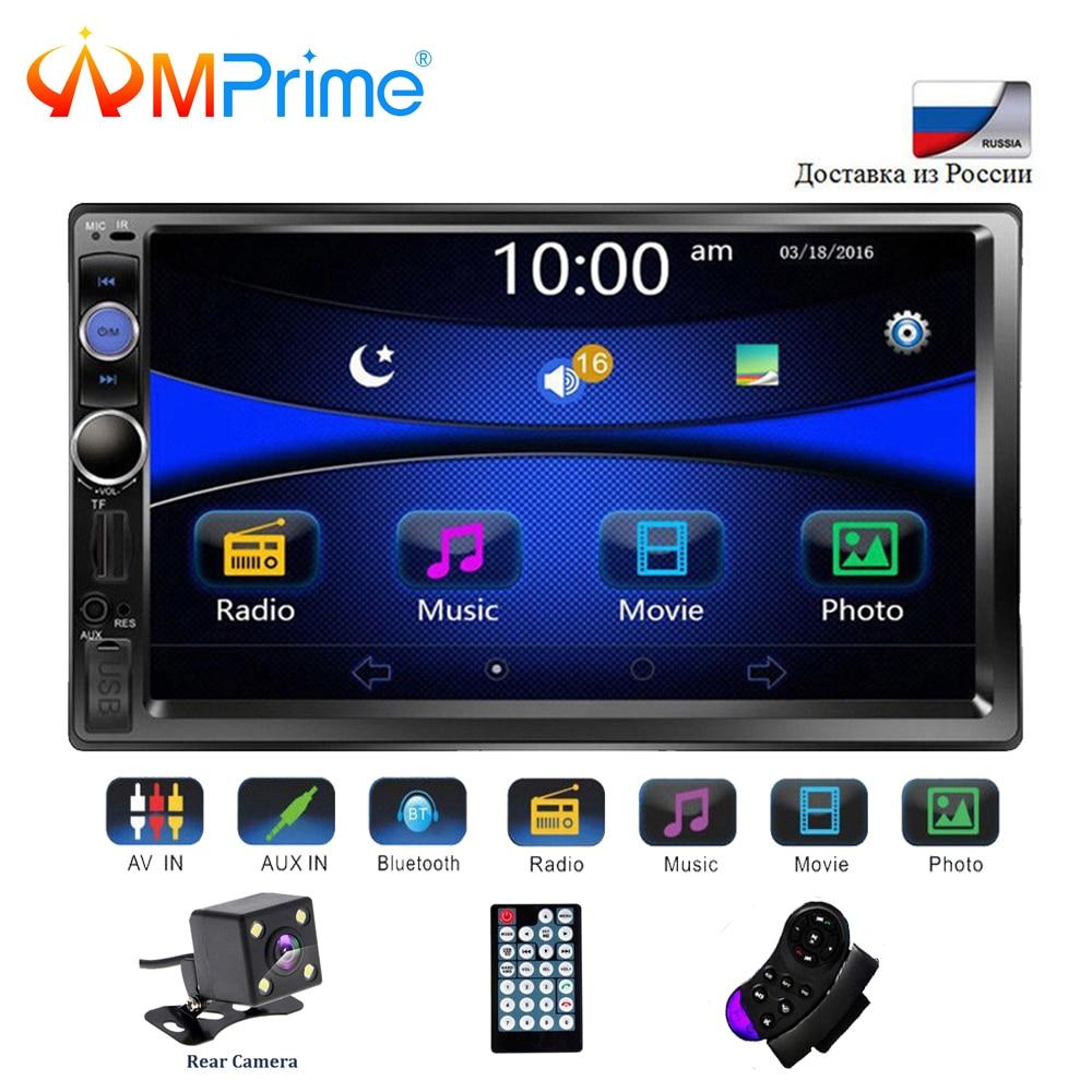 2 AMPrime Universal din Player Multimídia Carro Autoradio 2din Estéreo 7 Touch Screen Video MP5 Player de Rádio Auto Backup câmera