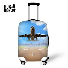 Купить с кэшбэком Suitcase Protective Covers Travel Accessories Airplane Print Luggage Cover Elastic Apply to 18-32 Inch Suitcase Trolley case