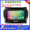Лучший Quad Core Android 5.1.1 Автомобильный DVD Для Hyundai IX45 2013 Санта-Фе 2013 С 16 ГБ Flash Wifi BT Бесплатную Карту GPS