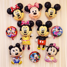 все цены на inflatable balloon birthday party decoration supplies inflatable toys for baby kids children minnie mickey birthday balloons онлайн