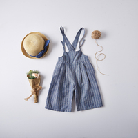 Overalls Children Casual Clothing Wholesale Boutique Clothes Baby Girls Striped Summer Shorts Loose Pants 6pcs/LOT