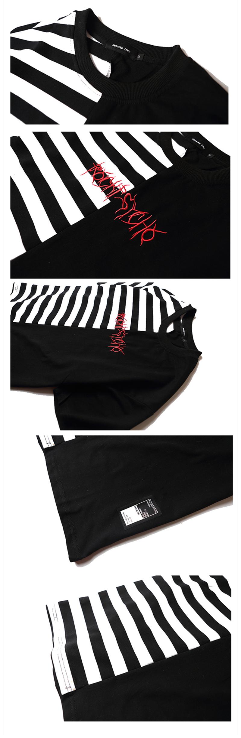 HTB14Tv6PpXXXXaiXXXXq6xXFXXXl - Striped T-shirt 2017 Summer Hip Hop kanye west embroidery T Shirts PTC 109