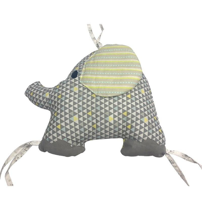 Pare-chocs de lit de bébé pour les nouveau-nés éléphant berceau pare-chocs pour bébé berceau entrejambe doux épais protecteur de berceau de bébé