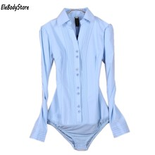 ddcd1b23868 Боди рубашка женские блузки блуза на каждый день рубашки 2018 белый черный  синий цвет длинный рукав