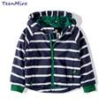 Criança crianças Meninos do Revestimento do revestimento Primavera Outono Listrado Com Capuz Blusão Para Crianças Outerwear Roupas de Bebê Minnie infantil Blazer