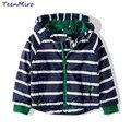 Niños Muchachos Del Niño de Rayas Capa de la Chaqueta Primavera Otoño Chaqueta Cazadora Con Capucha Para Niños prendas de Vestir Exteriores Minnie Bebé Ropa infantil