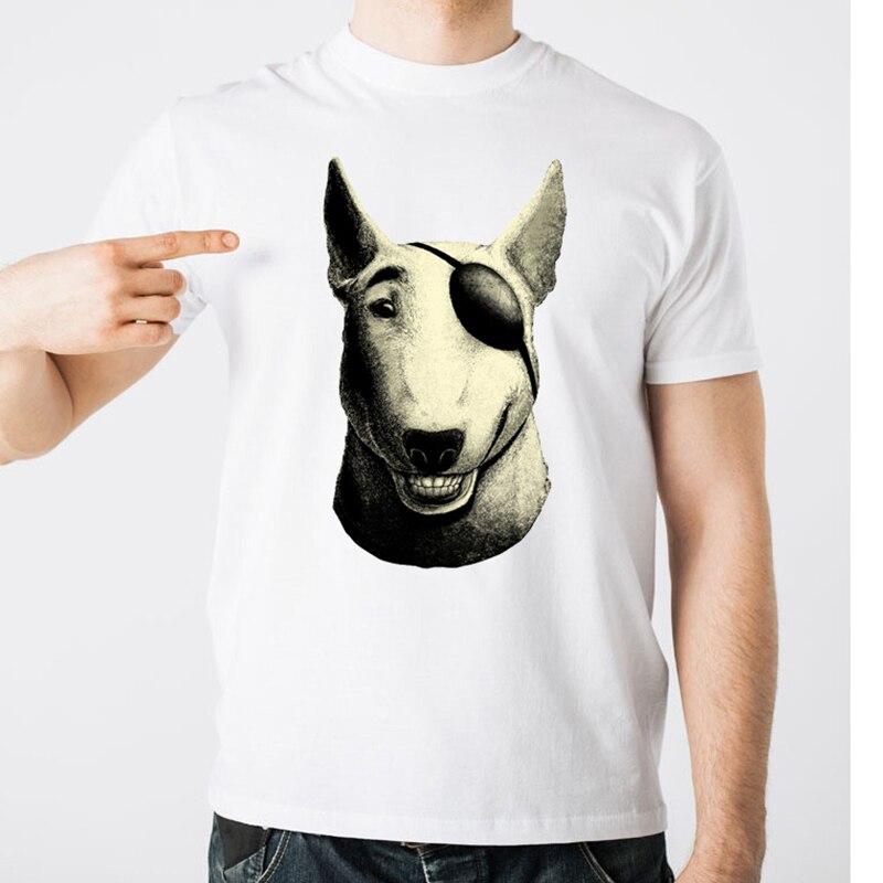 2019 Summer Men T Shirts Nejnovější Módní miling Bull Terrier Design Tričko s krátkým rukávem Tops Cool Male Tee