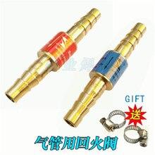 Oxygen Acetylene Flashback Arrestor Check Valve Flame Buster For Pressure Reducer Regulator Gas Cutting Torch For Pipe