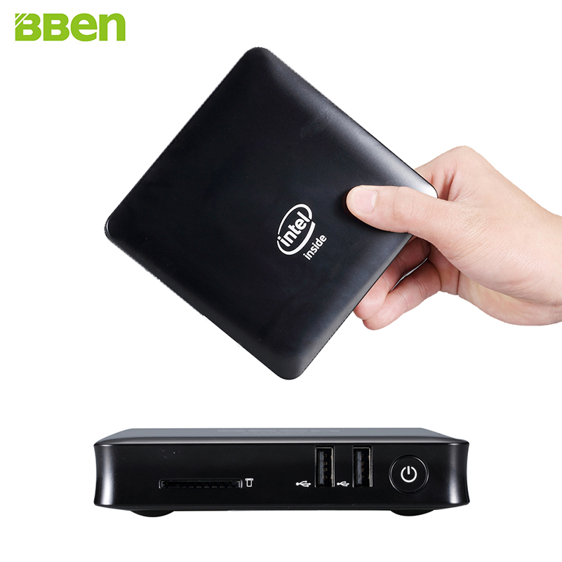 BBEN MN11 Mini PC Windows 10 Intel Z8350 Quad Core 2GB 4GB RAM USB3.0 USB2.0 WiFi BT Fanless PC Mini Computer Smart TV Box