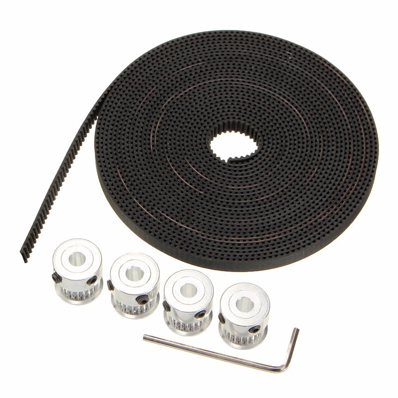DANIU GT2 Aluminium Timing Pulley 20 Teeth M4 Screw 5M Belt With 1pc Wrench For CNC 3D Printer