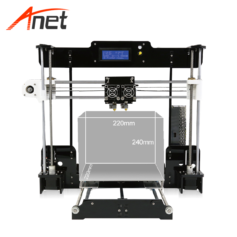 Imprimante 3d double extrudeuse imprimante 3d Anet A8-M imprimante numérique grand Format garantie d'un an impression 3d