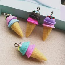 36*16 มม.Polymer clay Ice cream กลับ(China)