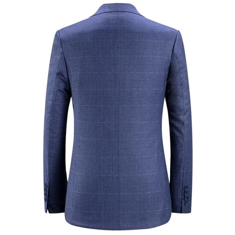 Повседневный костюм пиджак для мужчин Новое поступление модный приталенный пиджак мужские костюмы хлопок сплошной цвет мужской блейзер дл... - 2