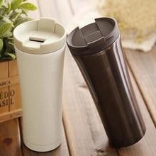 2016 heißer Verkauf Doppelwand Kaffee Thermoskanne Tassen MugsStainless Edelstahl Thermische Flasche 500 ml Thermocup Mode Becher Isolierflasche