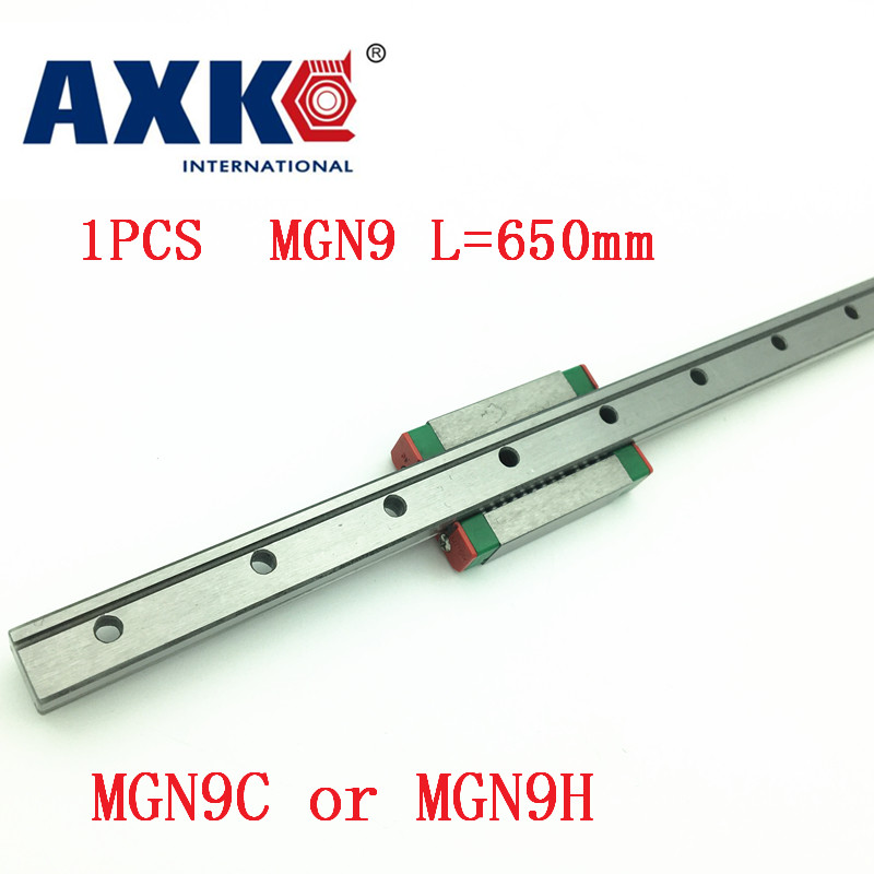 9mm Linear Guide Mgn9 L= 650mm Linear Rail Way + Mgn9c Or Mgn9h Long Linear Carriage For Cnc X Y Z Axis