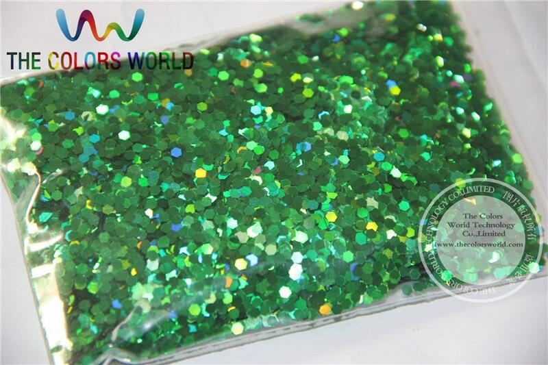 2 мм голографический зеленый цвет блестки разбрызгивающие Блестки для дизайна ногтей и других аксессуаров DIY