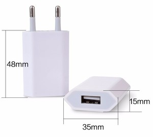 Image 2 - 10PCS Lot Travel Wall USB Charging Charger For Apple iPhone 7 6 6s 5 5S SE 5C 4 4S 3GS Power Adapter AC 8 Pin EU Plug