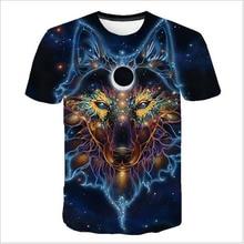2019 Newest Wolf 3D Print Animal Cool Funny T-Shirt Men Short Sleeve Summer Tops Tee Shirt T Shirt Male Fashion tshirt Male 6XL men wolf 3d print tee