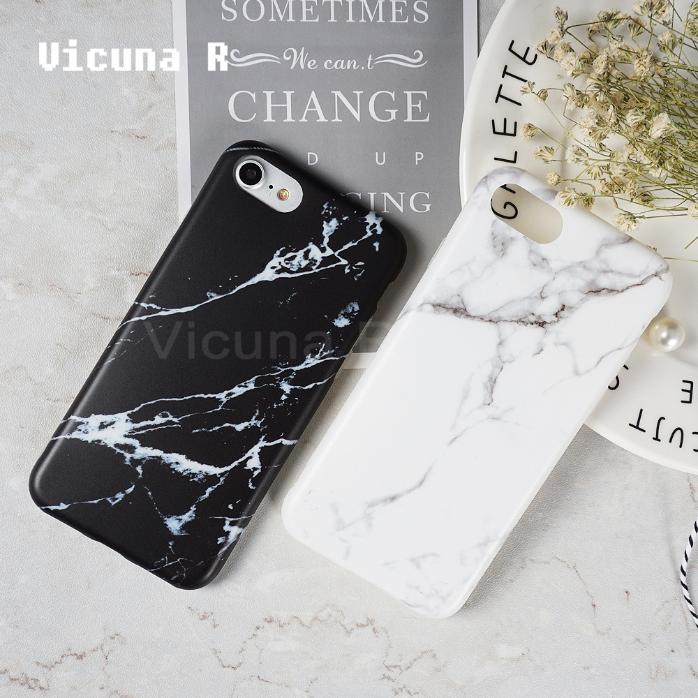 Galleria fotografica Vicuna R Luxury Marble Pattern Phone Cases For iPhone 7 Case 6 6S 8 7 Plus Cases Soft TPU Cover For iPhone 6S Case X Capa Coque