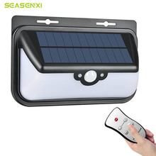 SEASENXI LED Solar Lamps 68 LEDs Three Working Modes Functional Outdoor Garden Lignting Lamps Wall Yard Fence Solar Power Lights