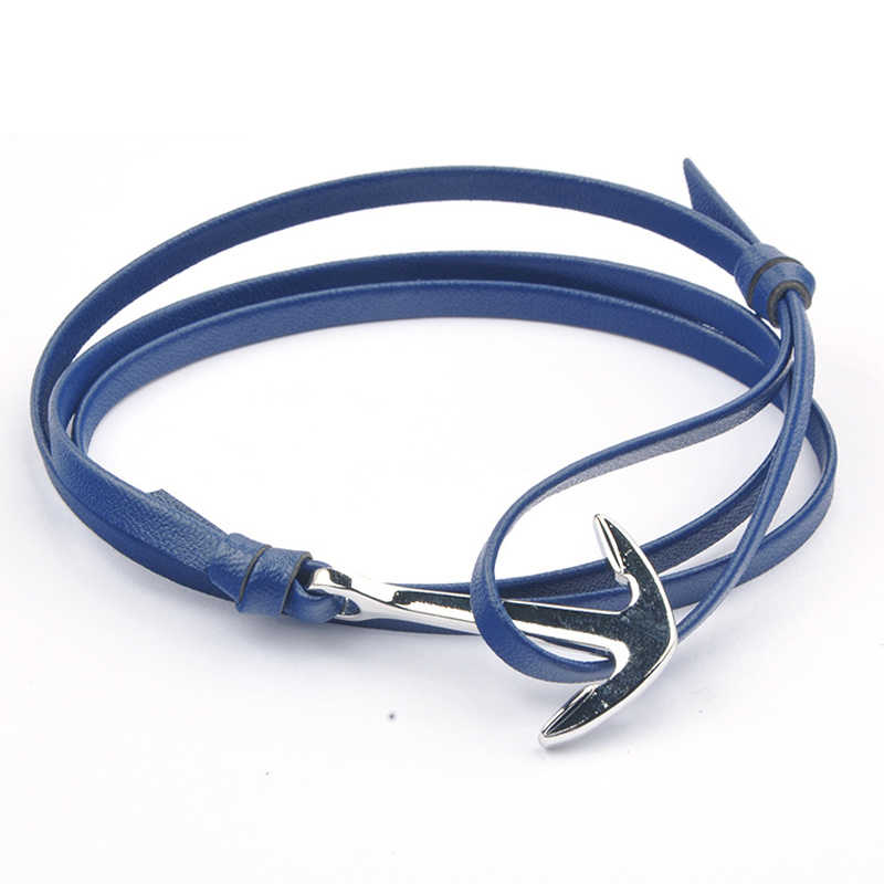 NIUYITID Antique Silver Anchor Bracelet For Women Classic Man Jewelry Accessories Nautical Sailor Female Lover Wristband