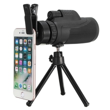 Buy online 40X60 Telephoto Telescope Monocular Camera Lens + Phone Clip + Tripod Universal For iPhone Android Mobile Phones Outdoor Travel