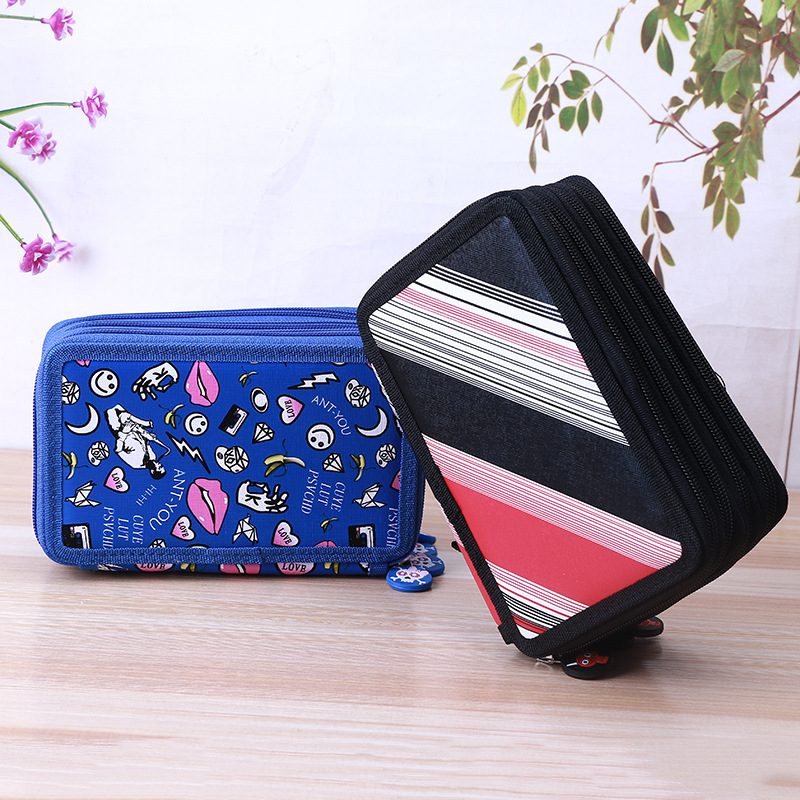 72 Slots Multi-functional Large Capacity Pens Case Pencil Pouch Wrap Coloring Pencil Holder Organizer Stationary Bag big pencil case box 32 52 72 slots zipper large capacity pen organizer for watercolor pens markers perfect gift for students