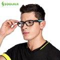 SOOLALA Fashion Sports Optical Eyeglasses Frame High Quality Eyewear Frame Silicone Anti-skid Arm Clear Lens oculos de grau