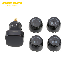Steelmate TPMS TP-76 Tire Strain Monitoring System Automotive Alarm Equipment LED Cigarette Lighter Four Exterior Sensors Automotive Diagnostic Instrument