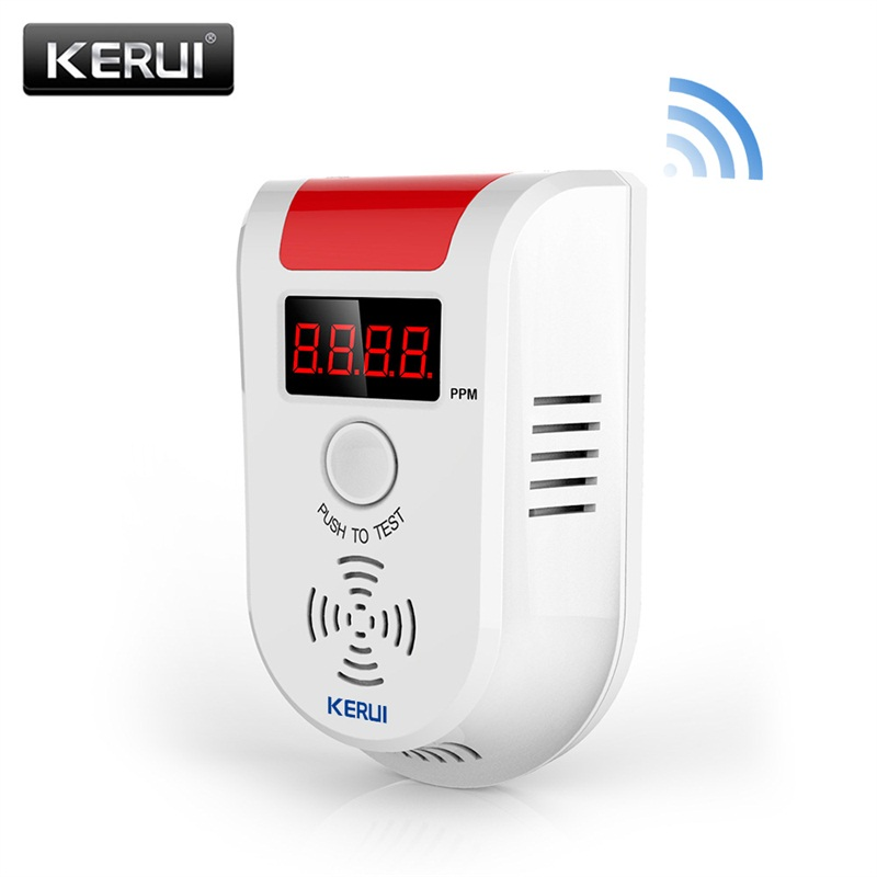 KERUI WGD13 Digital LED Display Wireless WiFi LPG LNG Natural Gas Leakage Detector Alarm Combustible Leak Sensor For Kitchen