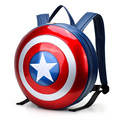 2016 Marvel Avengers Age Of Ultron Captain America Hard Backpack Plastic Shield Field Pack Super Hero Rucksack Big Size 43cm