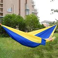 Double Person Portable Hammock Swing Bed Travel Kits Assorted Color Hanging Sleeping Bed Parachute Nylon Fabric Outdoor Hammocks