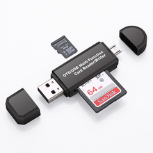 All in One Memory Card Reader MINI USB 2.0 OTG Micro SD/SDXC TF Card Reader Adap