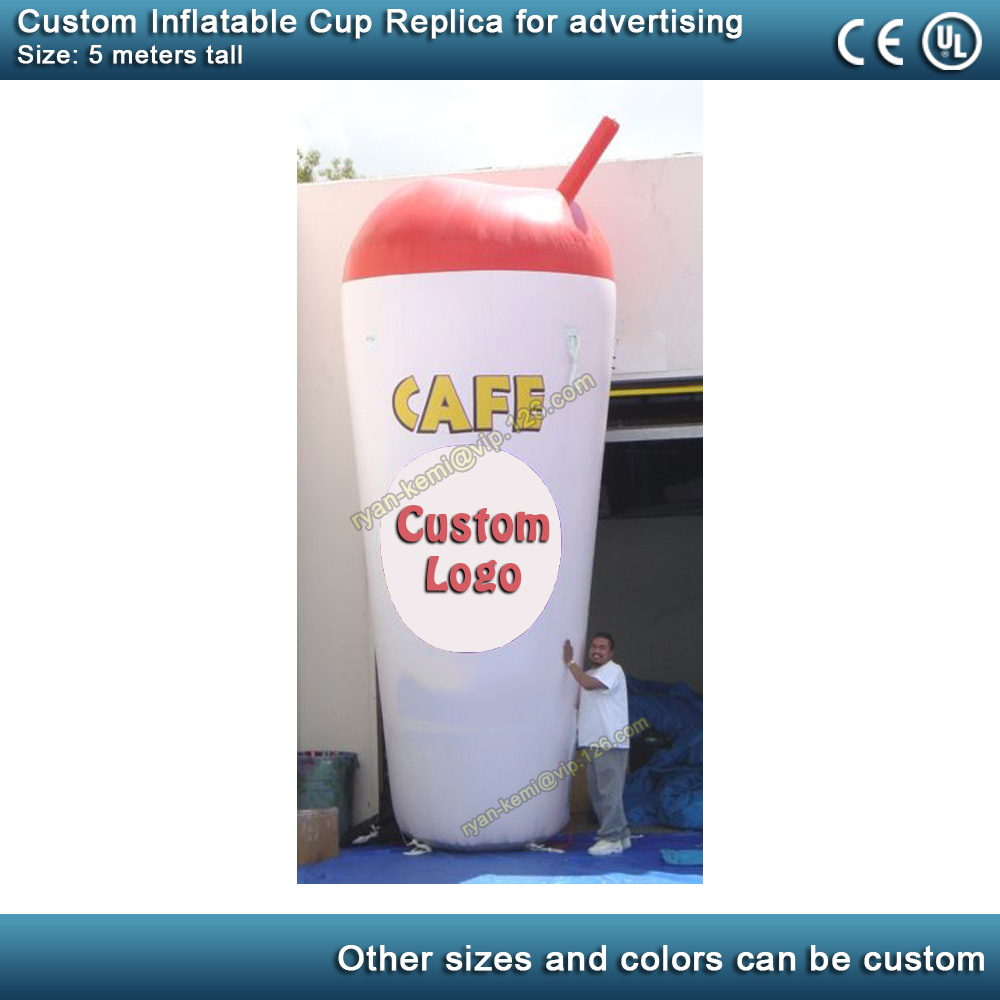 5m 16ft giant inflatable smoothie cup for advertising inflatable beverage cup promotional inflatable coffee mug with blower