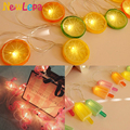 String Lights Lemon Flamingo ice lolly Led Light Home Garden Lights Battery Powered Party 3V AA Indoor Lights Party Decoration