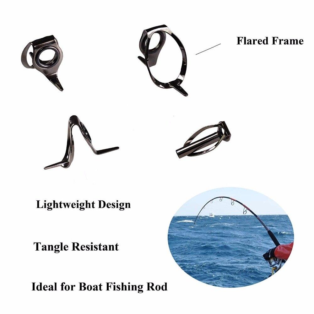 35pcs 8 25 Big Jigging Fishing Rod Guides Tip Tops Repair Kit Sea Heavy Duty Boat Saltwater Fishing Rod Jigging Guides Tip Top in Fishing Rods from Sports Entertainment